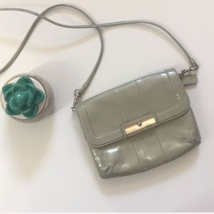 Coach | patent leather small Crossbody bag